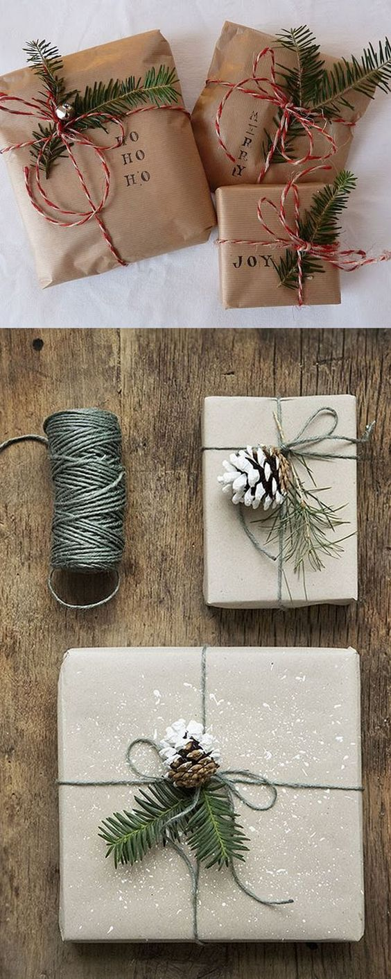 gift wrapping using recycled everyday materials